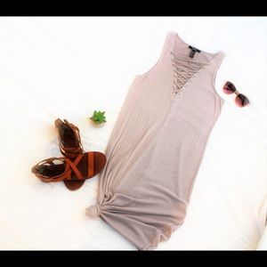 Forever 21 • Bodycon dress • Lace up deep V neck